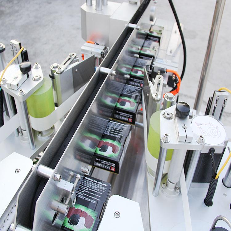 Dettagli dell'etichettatrice d'angolo automatica della scatola di cartone