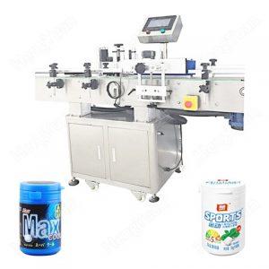 Etichettatrice automatica per bottiglie di olio di girasole rotondo