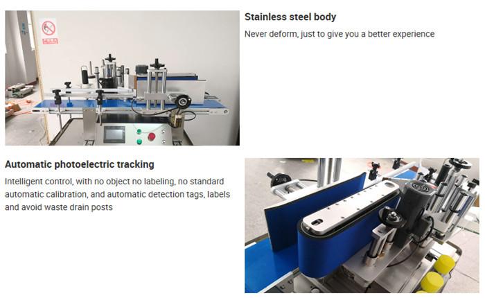 Dettagli dell'etichettatrice automatica per bottiglie da tavolo