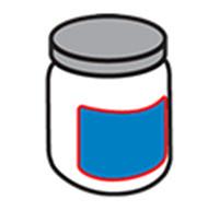 Etichettatura di bottiglie rotonde